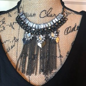 Jewelry - Black & White Rhinestone Necklace😍😍